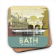 Bath cork backed drinks coaster    (se)